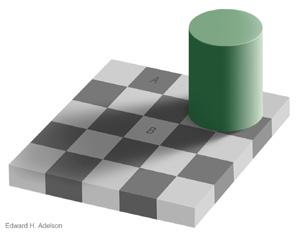 Schachbrettschattenillusion