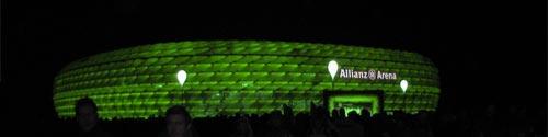 Das Fußballstadion in München